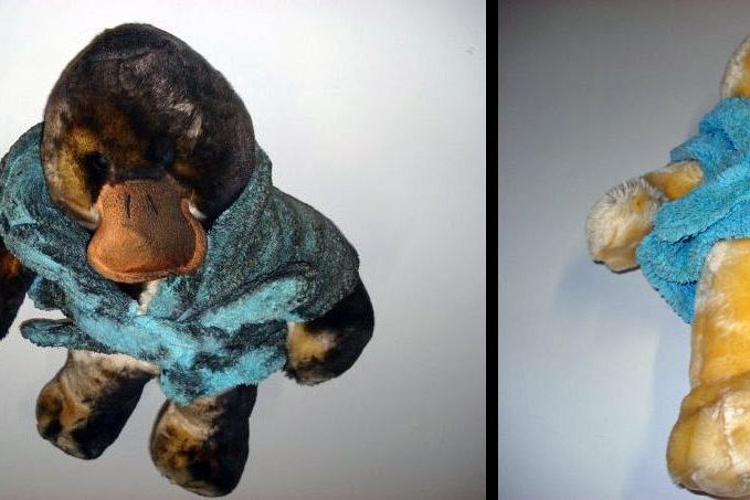STUFFED ANIMAL RESTORED<br>This stuffed animal was cleaned and restored using the Esporta Wash System.